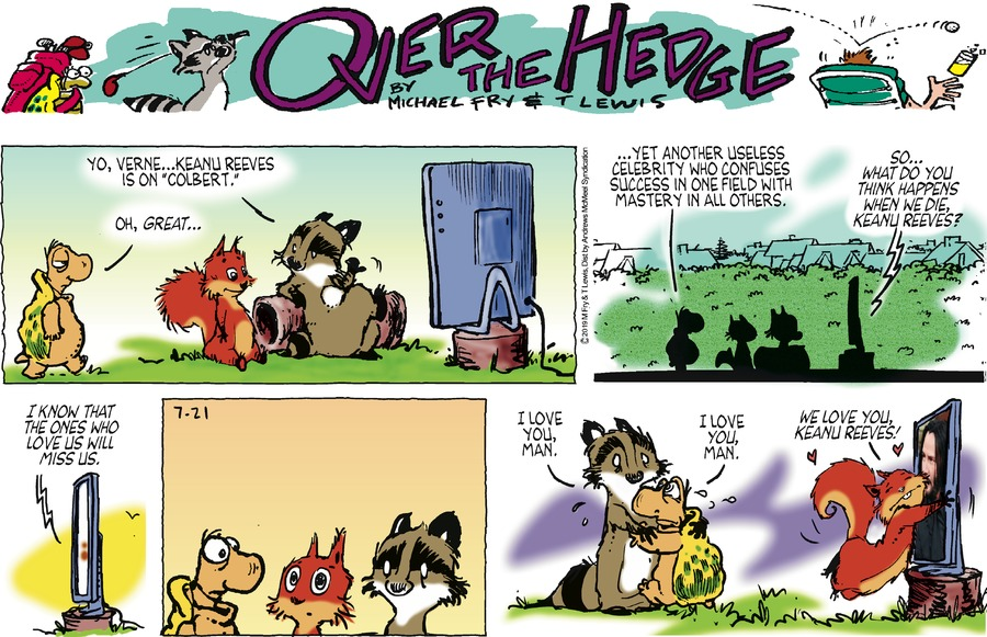 Over the Hedge Comic Strip for July 21, 2019