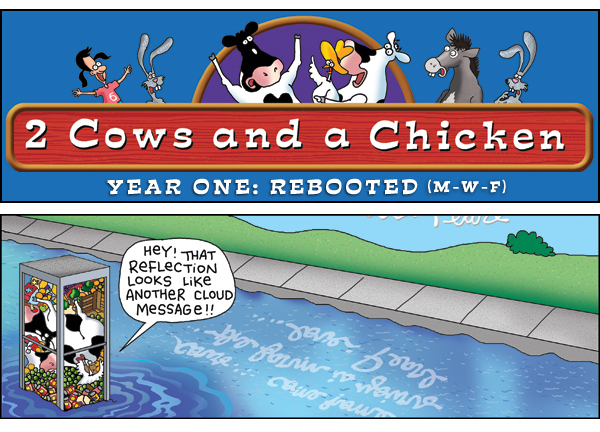 2 Cows and a Chicken for Feb 22, 2013 Comic Strip