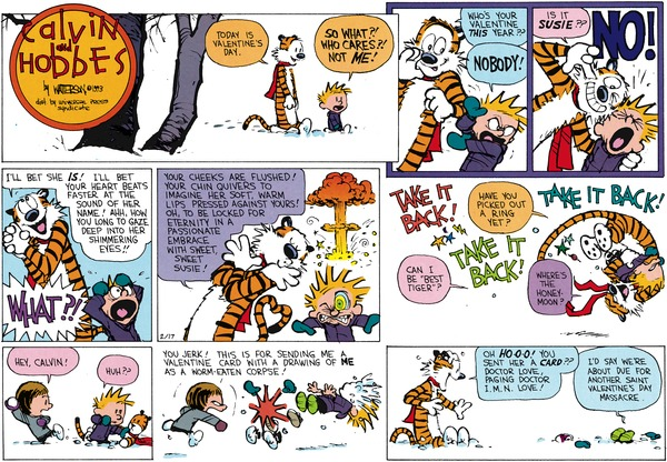 Collectible Print of calvin and hobbes
