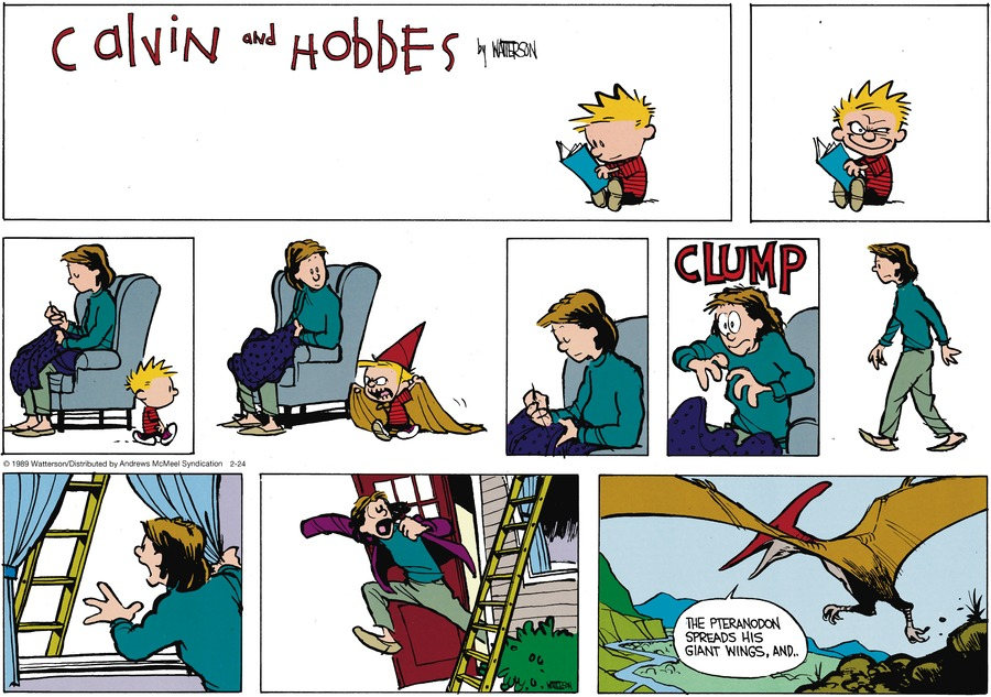 Calvin and Hobbes by Bill Watterson for February 24, 2019