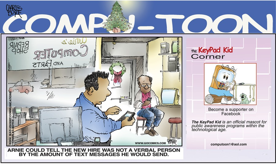 Compu-toon Comic Strip for December 14, 2014