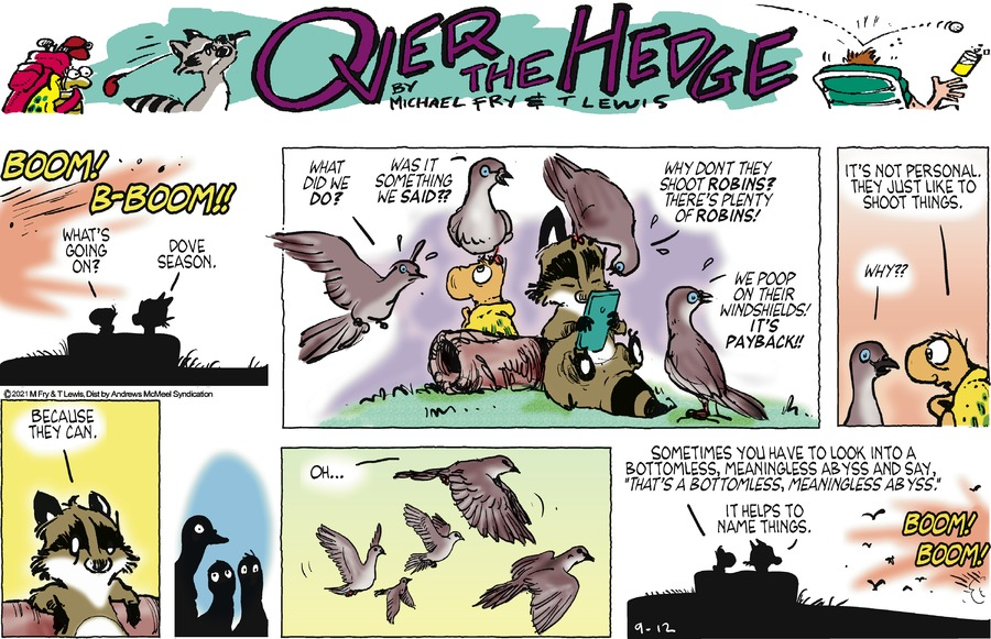 Over the Hedge Comic Strip for September 12, 2021