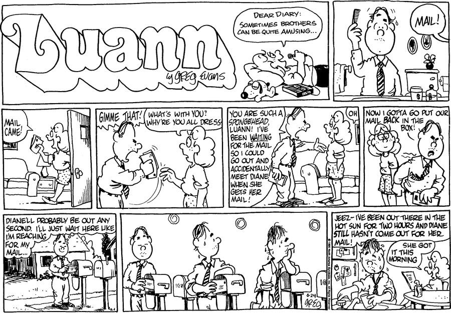 Luann Againn Comic Strip for June 24, 2018