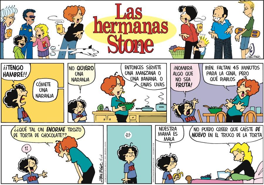 Las Hermanas Stone for Apr 14, 2013 Comic Strip