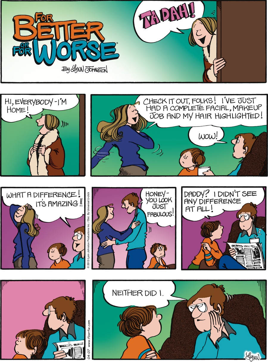 For Better or For Worse Comic Strip for April 07, 2013