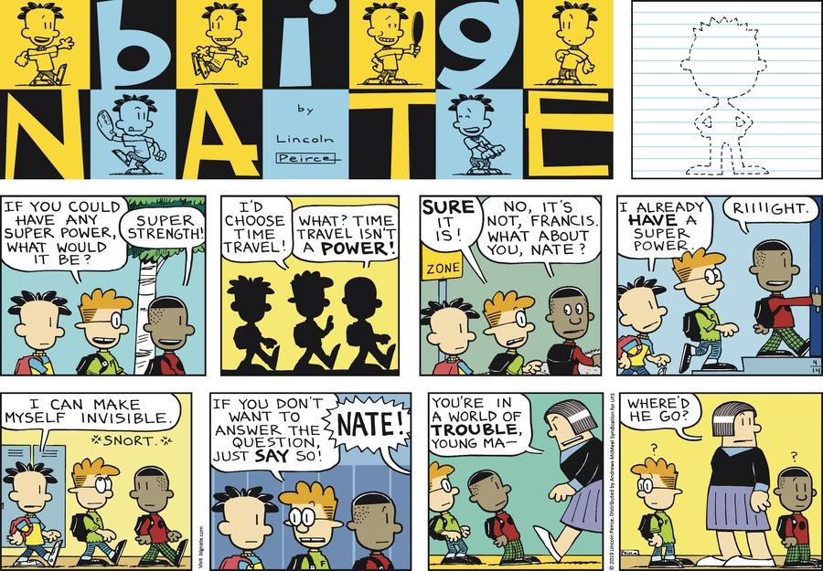 Big Nate Comic Strip for April 14, 2019