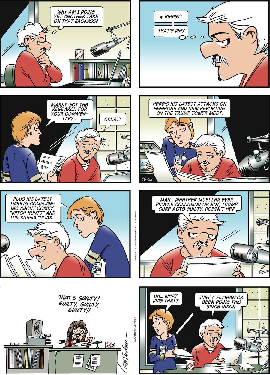 Doonesbury Comic Strip for October 22, 2017