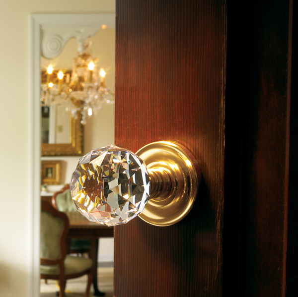 With a timeless quality that appeals to both young and old alike, crystal doorknobs feel luxurious in the hand. While the look of crystal doorknobs' popularity is rising, the price of this Baldwin Hardware authentic crystal doorknob is also a luxury that can soar up to $500.