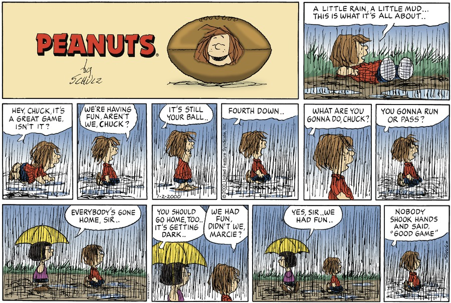 Peanuts Comic Strip for January 02, 2000
