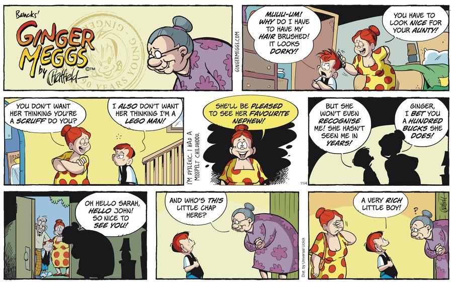 Ginger Meggs Comic Strip for November 04, 2012