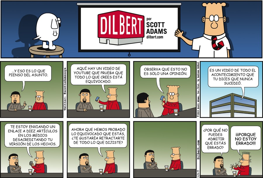 Dilbert en Español Comic Strip for March 24, 2019