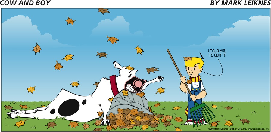 Cow and Boy Classics Comic Strip for November 16, 2008