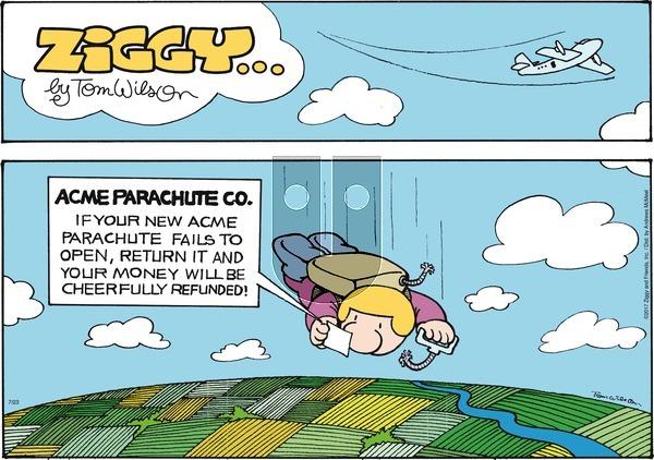 Ziggy on Sunday July 23, 2017 Comic Strip
