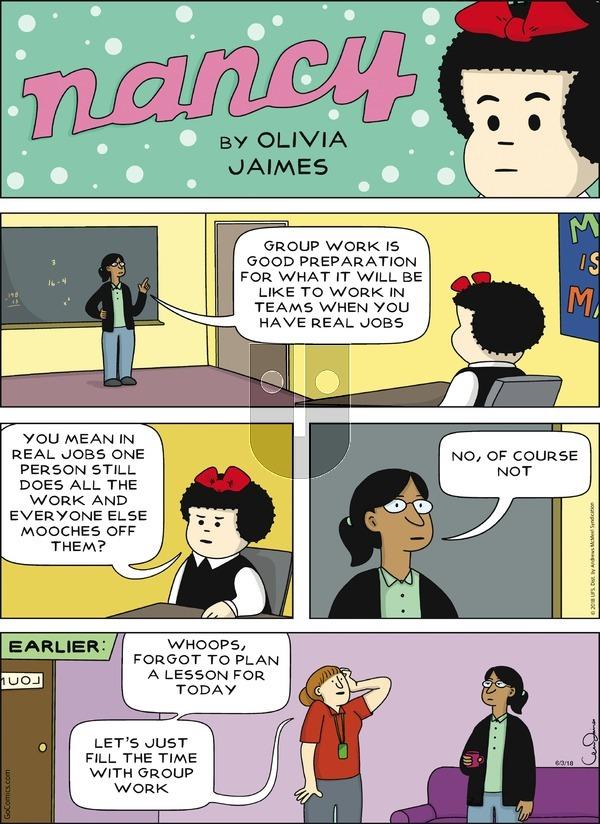 Nancy on Sunday June 3, 2018 Comic Strip