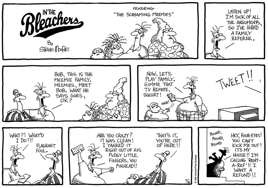 In the Bleachers for Nov 26, 1995 Comic Strip
