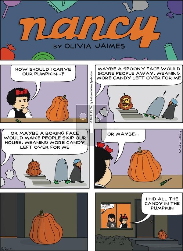 Nancy on Sunday October 28, 2018 Comic Strip