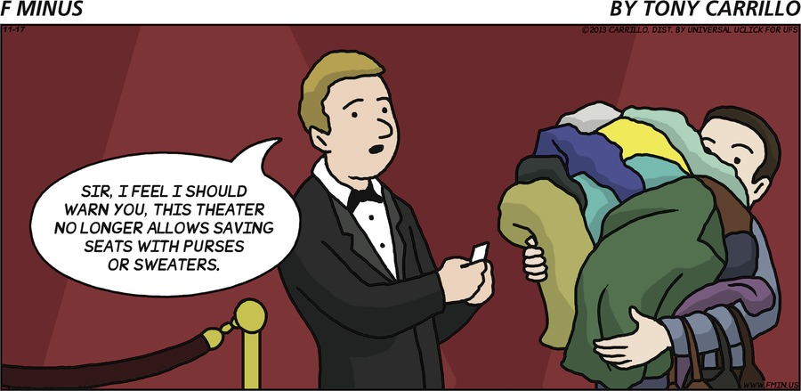 F Minus Comic Strip for November 17, 2013