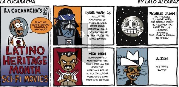La Cucaracha on Sunday October 1, 2017 Comic Strip