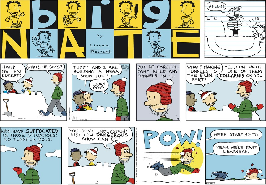 Big Nate Comic Strip for January 24, 2021