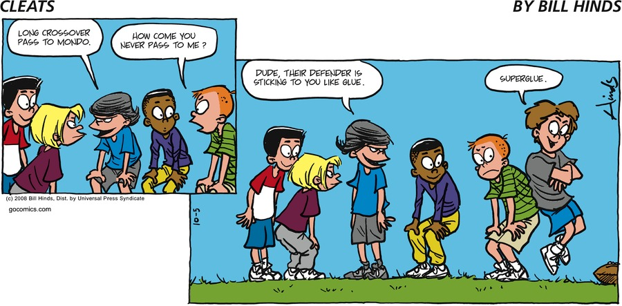 Cleats Comic Strip for October 05, 2008