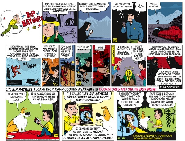 Rip Haywire on Sunday August 14, 2016 Comic Strip