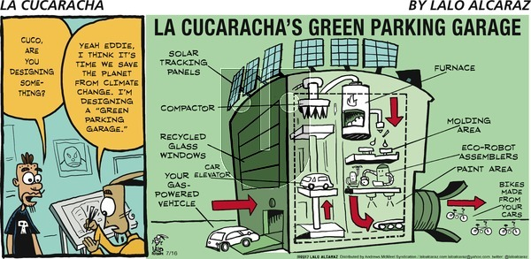 La Cucaracha on Sunday July 16, 2017 Comic Strip