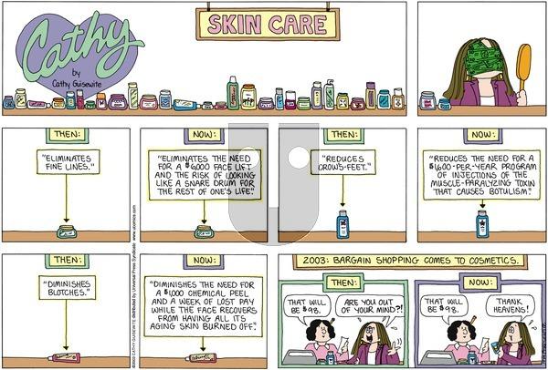 Cathy on Sunday October 19, 2003 Comic Strip