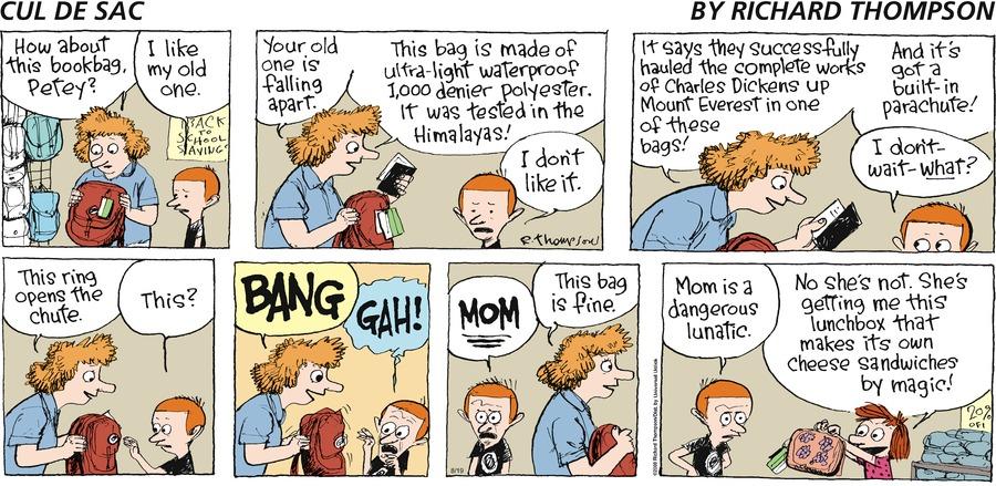 Cul de Sac Comic Strip for August 19, 2012