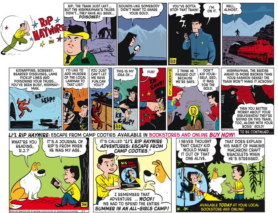 Rip Haywire Comic Strip for August 14, 2016