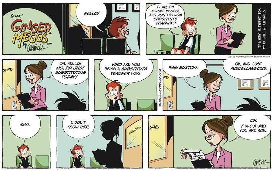 Ginger Meggs Comic Strip for November 04, 2018