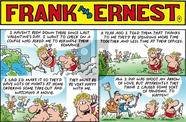 Frank and Ernest on Sunday February 14, 2021 Comic Strip