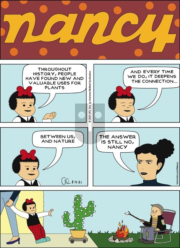 Nancy on Sunday August 15, 2021 Comic Strip