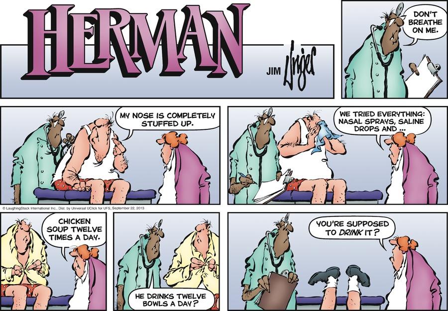 Herman for Sep 22, 2013 Comic Strip