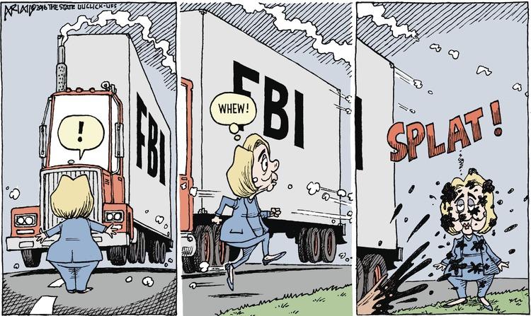 Hillary: ! Whew! Splat!