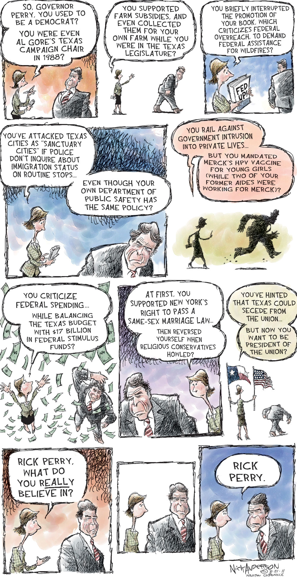 Nick Anderson Comic Strip for August 21, 2011
