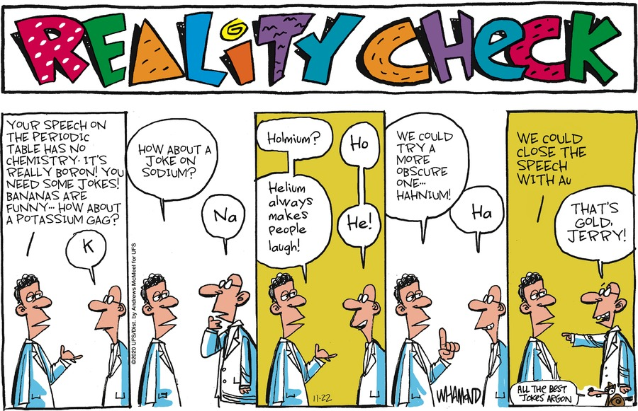 Reality Check Comic Strip for November 22, 2020
