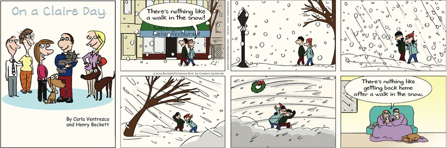 On A Claire Day Comic Strip for January 06, 2013