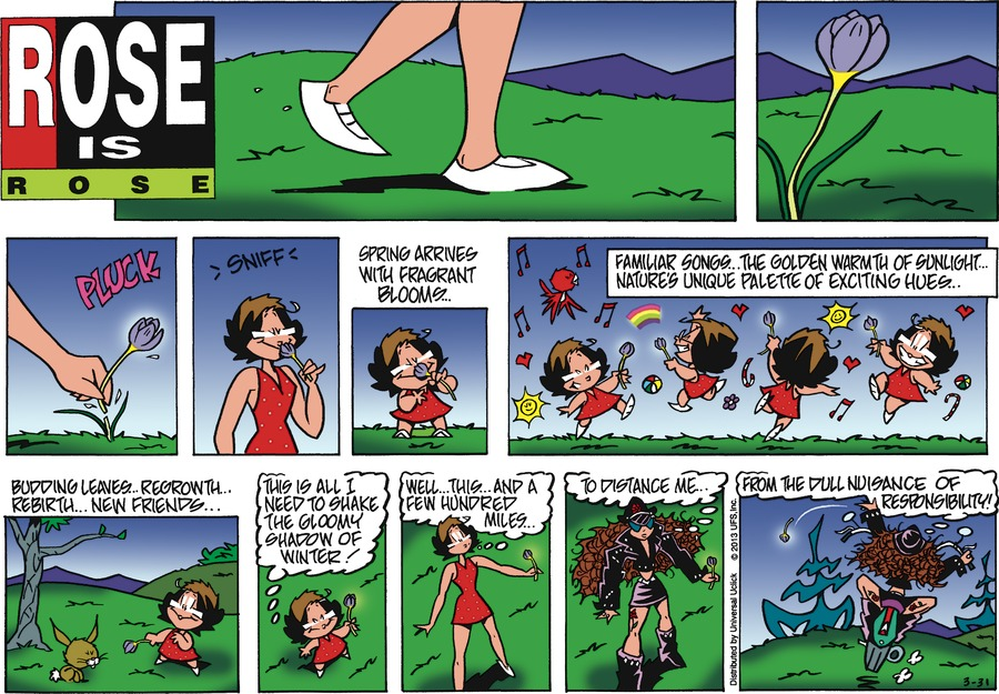 Rose is Rose Comic Strip for March 31, 2013