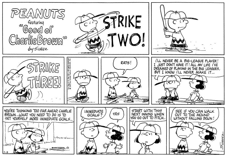 Peanuts Comic Strip for July 02, 1972