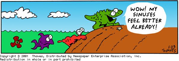 Frank and Ernest Comic Strip for January 23, 2001