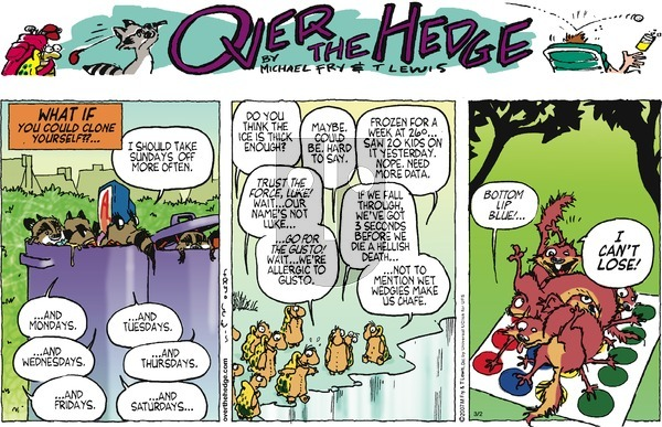 Over the Hedge on Sunday March 2, 2014 Comic Strip