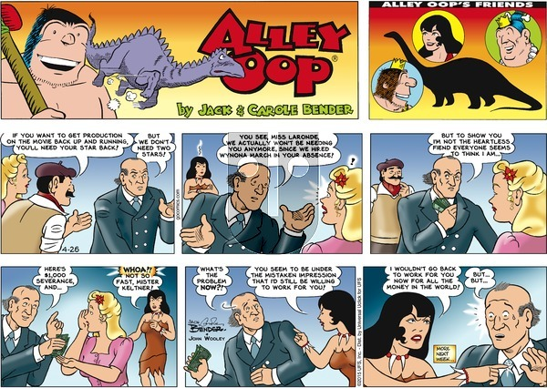 Alley Oop on Sunday April 26, 2015 Comic Strip