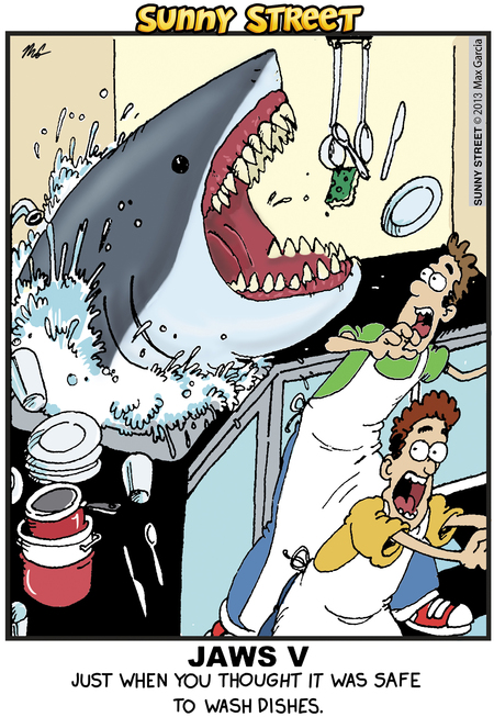 Jaws V: Just when you thought it was safe to wash dishes.