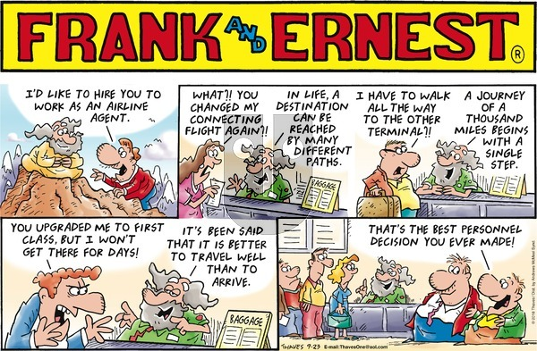 Frank and Ernest on Sunday September 23, 2018 Comic Strip