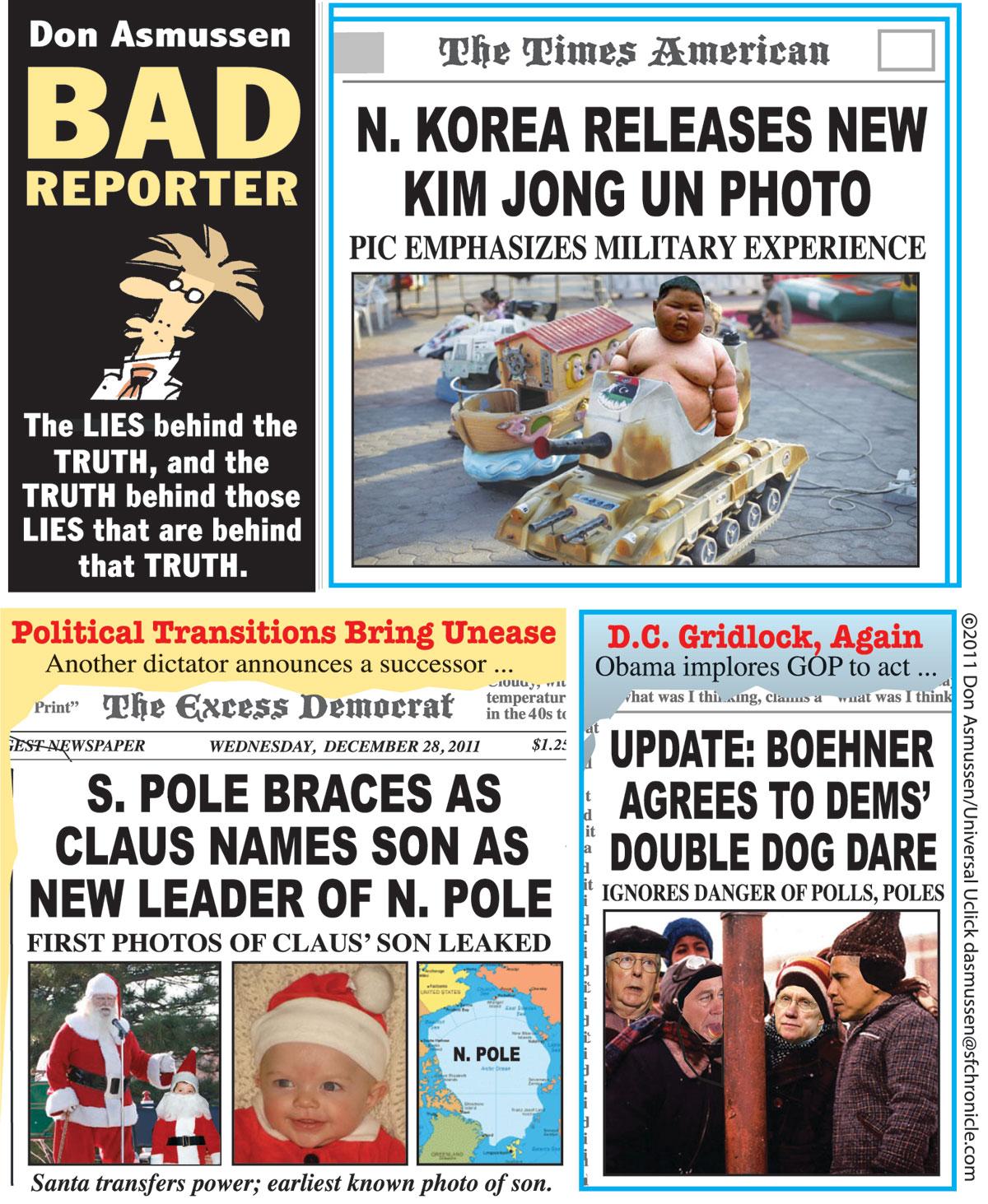 Bad Reporter Comic Strip for December 28, 2011
