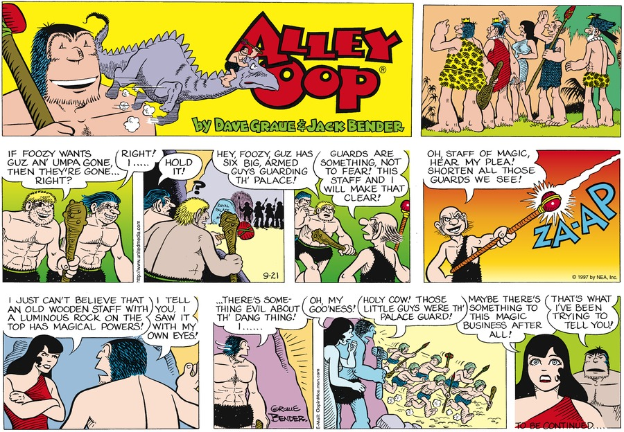 Alley Oop for Sep 21, 1997 Comic Strip