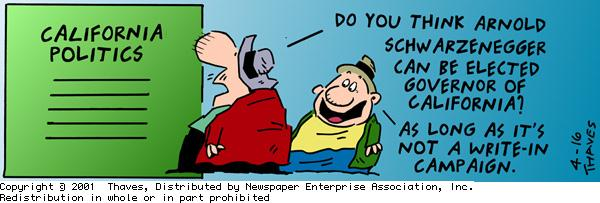 Frank and Ernest Comic Strip for April 16, 2001
