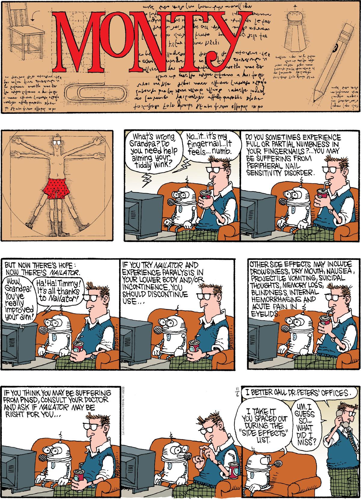 Monty for Nov 6, 2011 Comic Strip