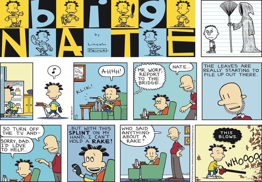 Big Nate Comic Strip for October 21, 2018