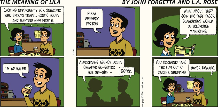 The Meaning of Lila Comic Strip for September 15, 2019